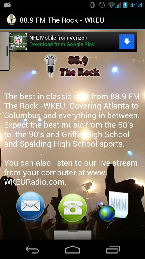 88.9 FM The Rock - WKEU - screenshot