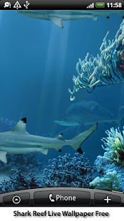 Shark Reef Live Wallpaper Free Screenshot 1