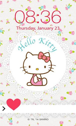 Hello Kitty Spring Screen Lock