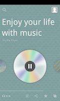 Screenshot of Shuffle Player (MP3 music)