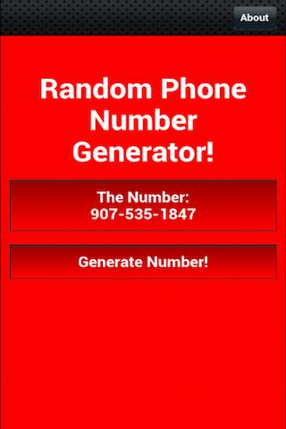 Random Phone Number Generator - screenshot