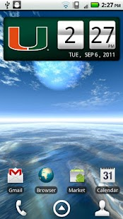 Miami Hurricanes Clock Widget- screenshot thumbnail