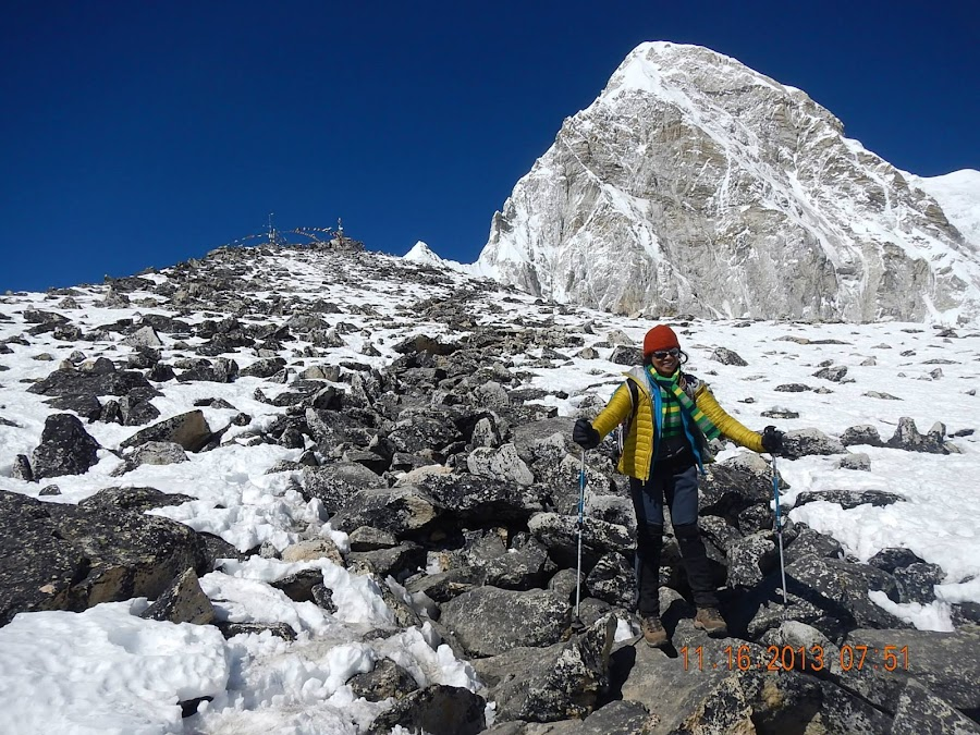 Most difficult trail of boulders to Kalapatthar.. by Marissa Rivero - Landscapes Mountains & Hills