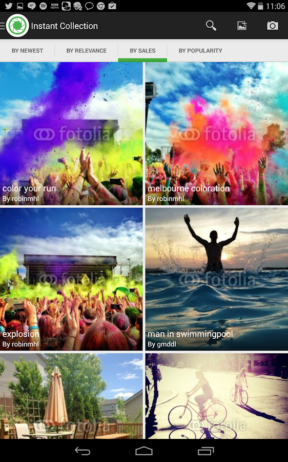 Fotolia Instant- screenshot