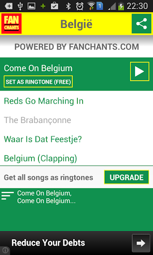 Belgium Football Songs 2014