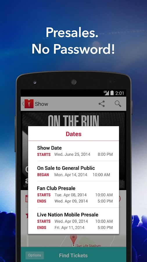 Live Nation – Concert Tickets - screenshot