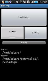 iSdBackup for Galaxy/Optimus2X- screenshot thumbnail