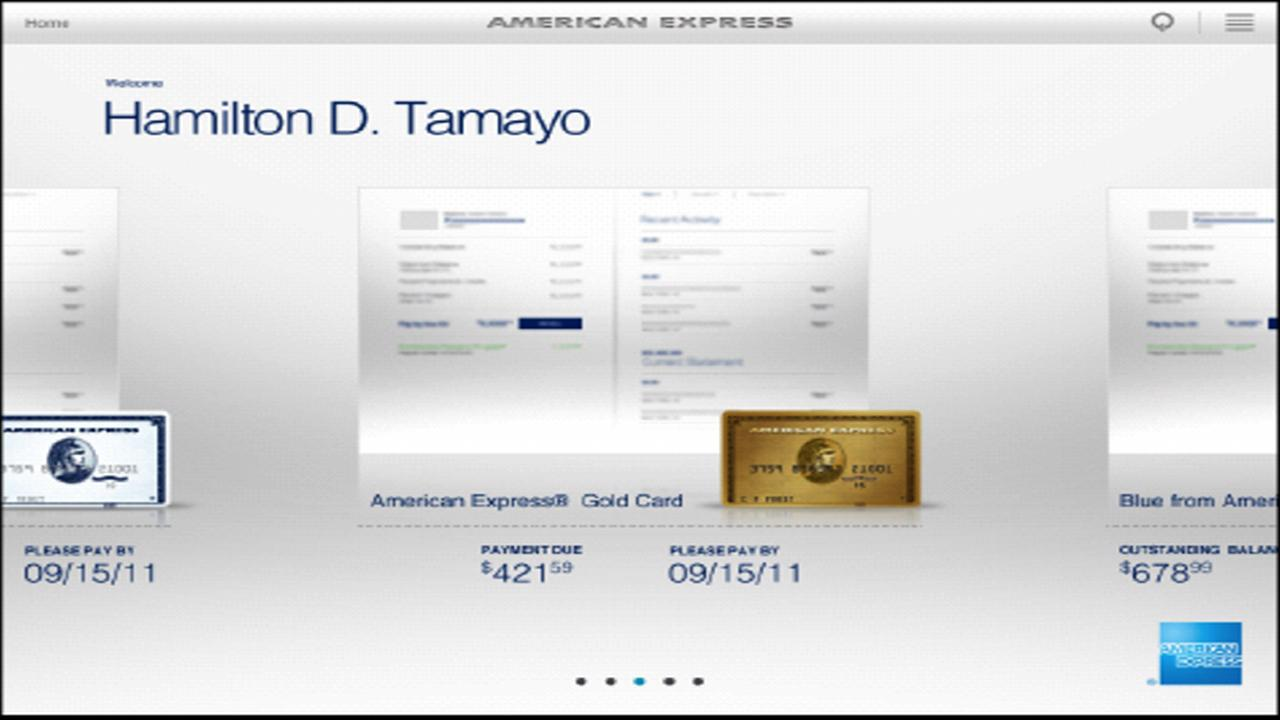 Amex for Tablet - screenshot