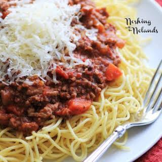 Slow Cooker Spaghetti Bolognese.