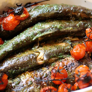 Whole Fish in Fines Herbes Sauce.