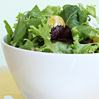 Everyday Leafy Green Salad With Two Vinaigrettes.