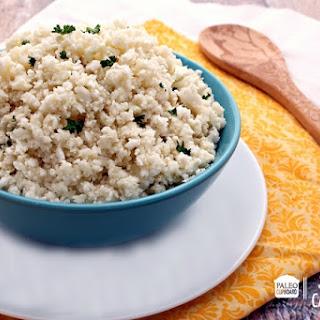 """Paleo Seasoned Cauliflower """"Rice""""."""