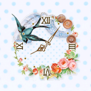 Sewing Bird ClockWidget