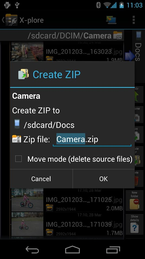 X-plore File Manager - screenshot