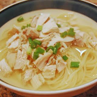 Vietnamese Style Chicken Noodle Soup.
