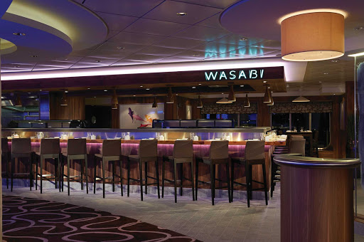 Norwegian-Getaway-Wasabi - Norwegian Getaway's Wasabi is an a la carte sushi bar and Yakitori grill with contemporary interiors, perfect for any guest craving Japanese dishes.