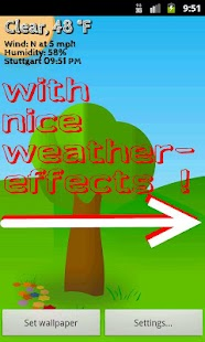 Cartoon Weather Live Wallpaper - screenshot thumbnail