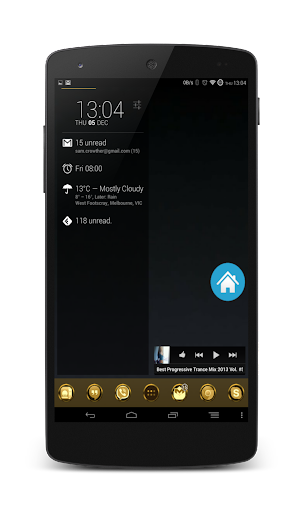 24Cr Gold Launcher Theme