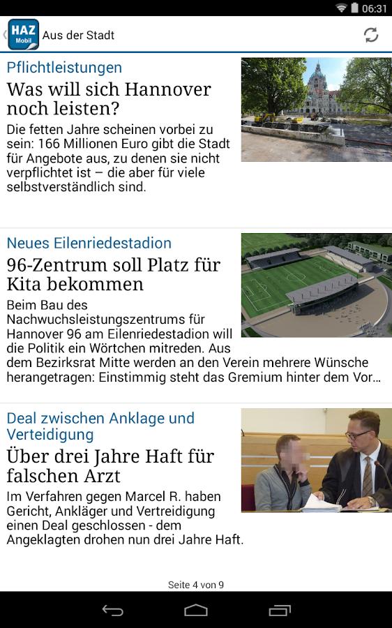HAZ mobil - screenshot