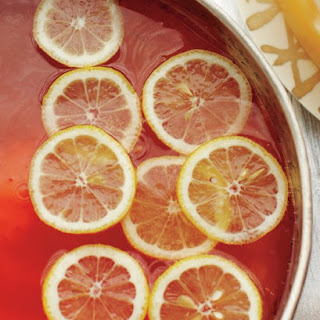 Elderflower-Champagne Punch.