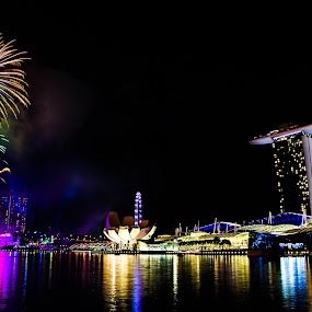 by Tan Jun - Landscapes Travel ( Fireworks, Cityscape, Celebration, Countdown )