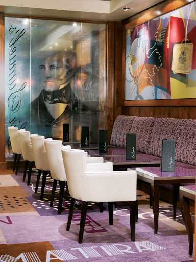 Cunard-Queen-Mary-2-Sir-Samuels - Try a glass of fine wine or a cappuccino and fresh baked pastries at Sir Samuel's wine bar aboard Queen Mary 2.
