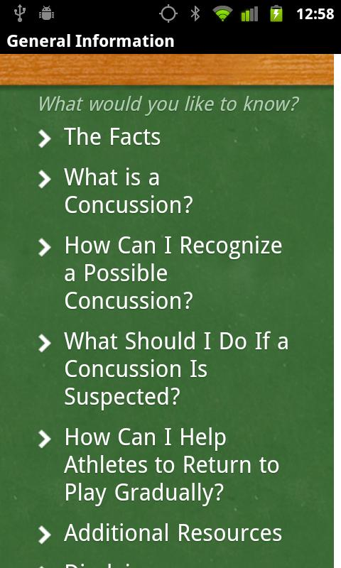 Concussion Recognition & Respo - screenshot