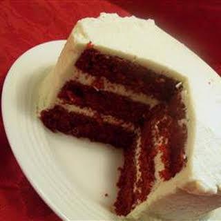 Mom's Signature Red Velvet Cake.