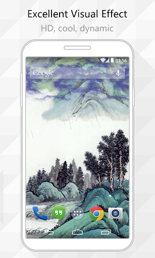 Ink Mountain Live Wallpaper