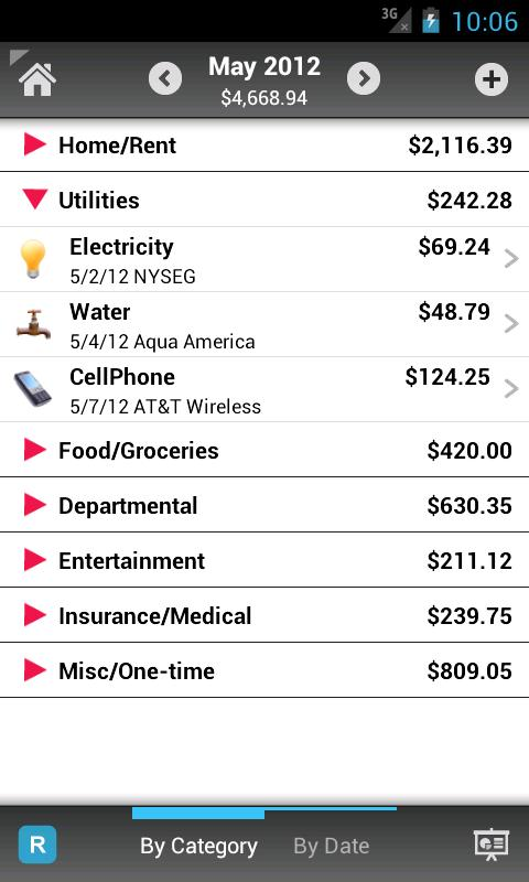 Home Budget with Sync Lite - screenshot