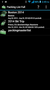 Packing List - Full - screenshot thumbnail