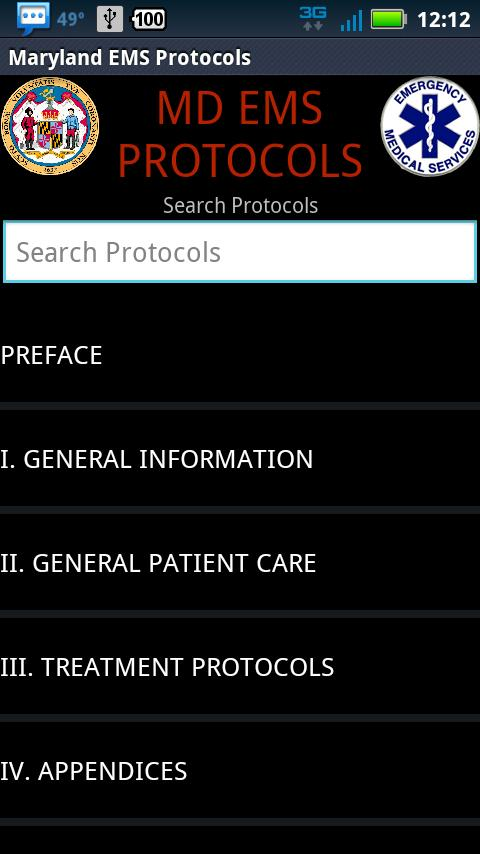 DEMO - MD EMS Protocols - screenshot