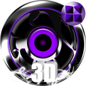 Next 3D Theme Purple Twister 個人化 LOGO-玩APPs