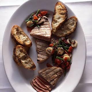 Grilled Tuna with Mediterranean Chopped Salad.