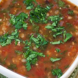 Crockpot Recipe for Vegetarian Black Bean and Tomatillo Soup with Lime and Cilantro.