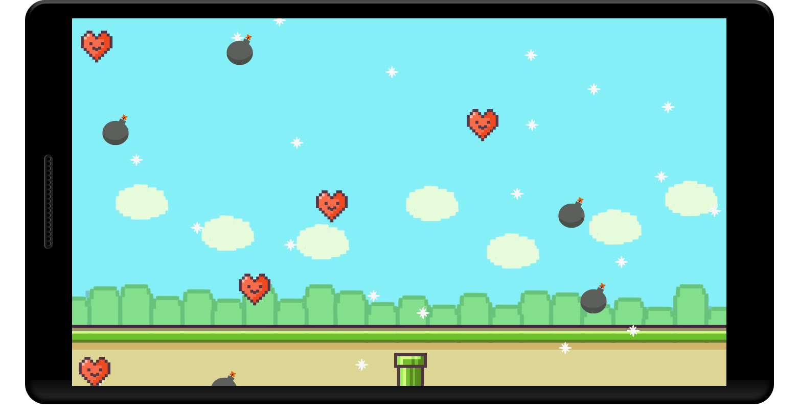 Flappy Falling Valentine's Day - screenshot