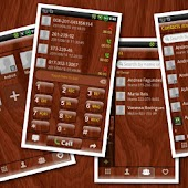 GOContacts theme Wood