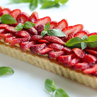Strawberry Basil Tart