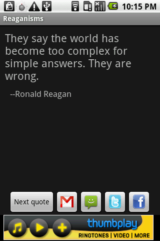 Reaganisms - screenshot