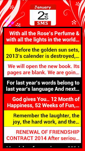 New Year SMS Messages 2014