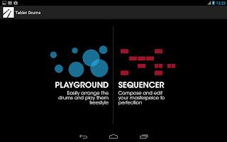 Screenshot of Tablet Drums
