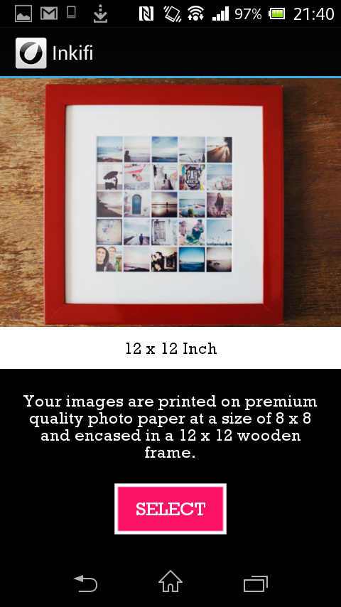 Inkifi - Print Instagram- screenshot