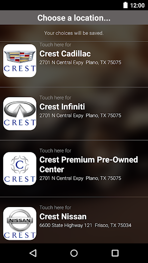Crest Auto Group DealerApp