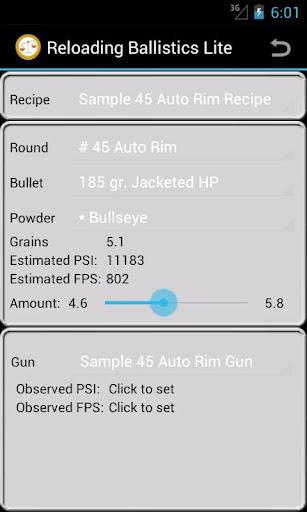 45 Auto Rim Ballistics Data