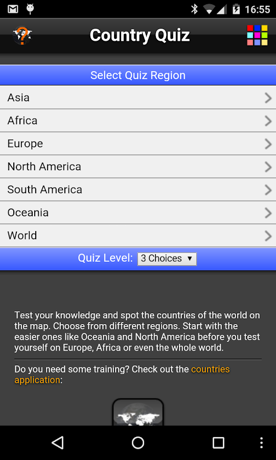 Country Quiz- screenshot