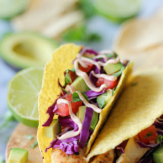 Fish Tacos with Chipotle Mayo.