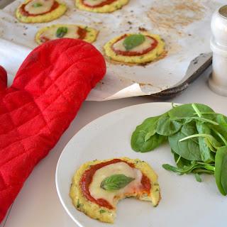 Mini Cauliflower Crust Margherita Pizzas Recipe