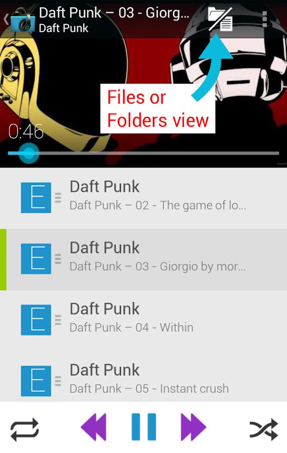 Music Folder Player (original)- screenshot