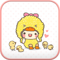 bebe_chick go sms theme icon