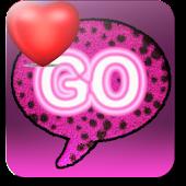 Go SMS Pink Cheetah theme